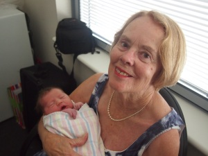 Mum with her newest grandchild, Lilly, my niece