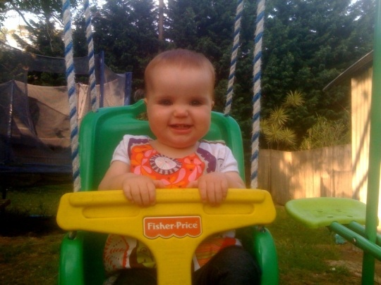 Molly on swing